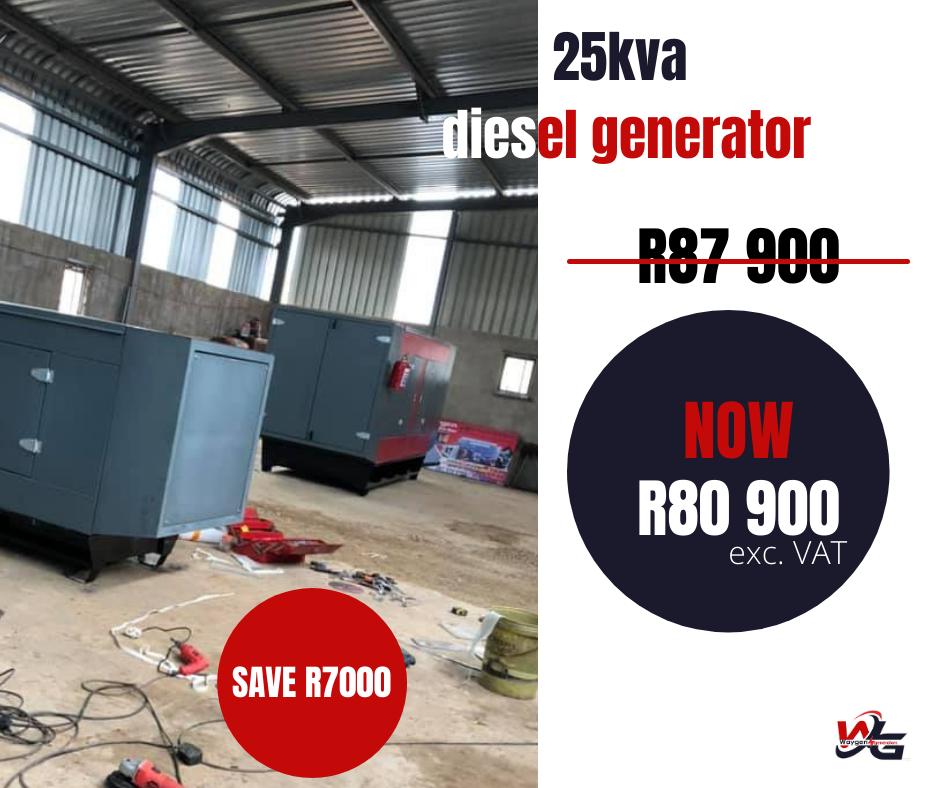 25kva silent diesel generator on special