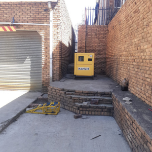 20kva silent diesel generator installed in Johannesburg CBD