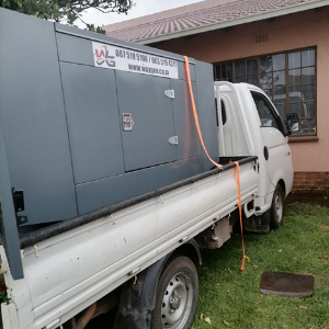 25kva silent diesel generator delivered and installed in Durban