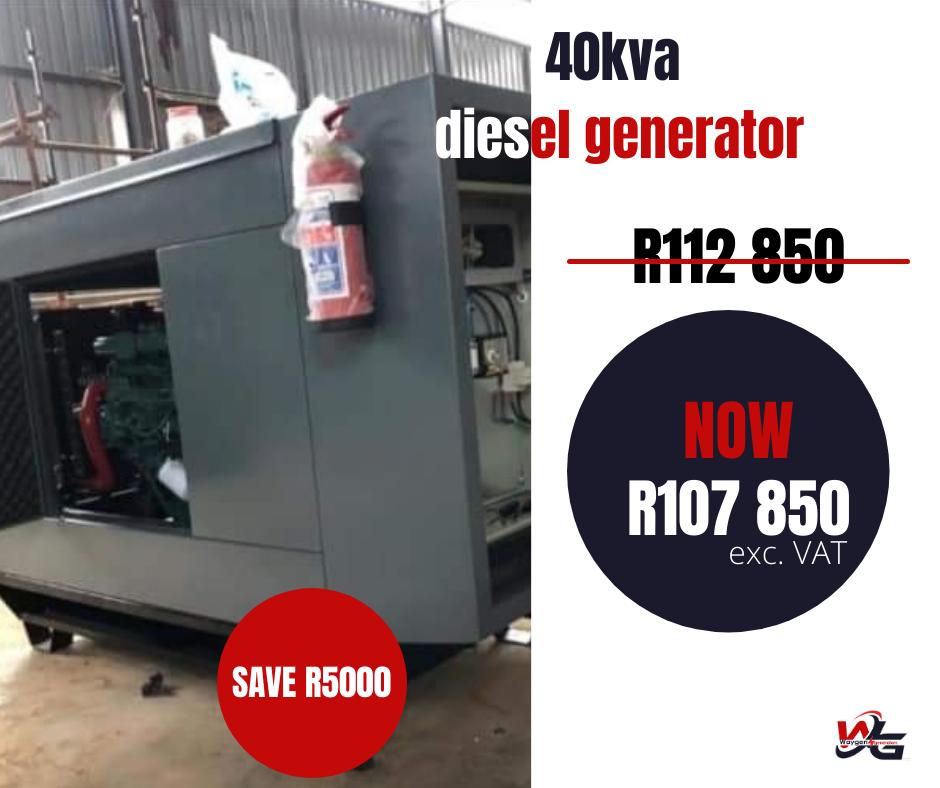 40kva silent diesel generator on special