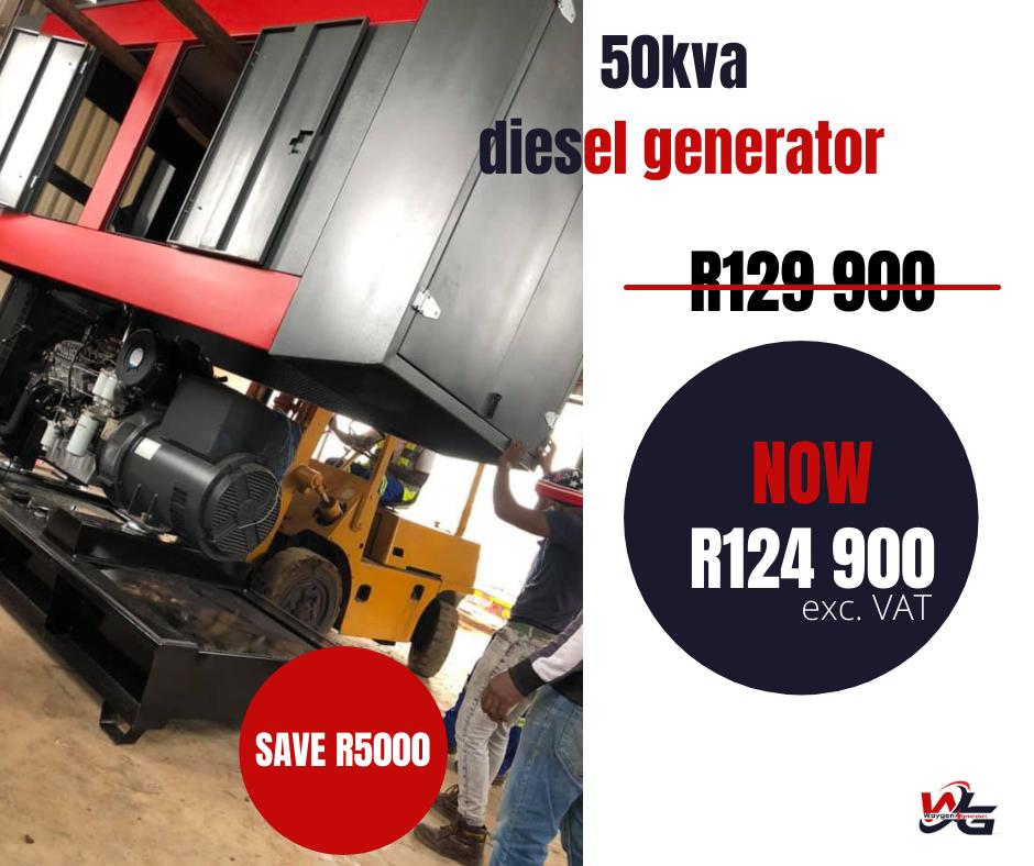 50kva silent diesel generator on special