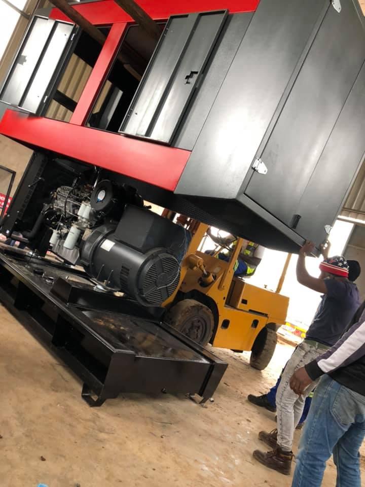 200kva diesel generator super silent canopy installed